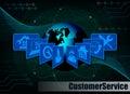 Dark blue Internet background