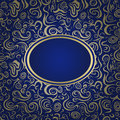 Dark Blue Invitation Card Royalty Free Stock Image