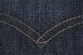 Dark blue jeans texture Royalty Free Stock Photo