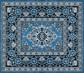 Dark blue persian carpet texture Royalty Free Stock Images