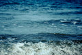 Dark blue sea with bubble wave Royalty Free Stock Photo
