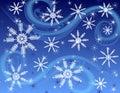 Tmavý modrý snehová vločka