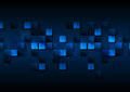 Dark blue tech abstract squares background