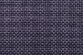 Dark blue textile background with checkered pattern, closeup. Structure of the fabric macro. Royalty Free Stock Photo