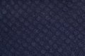 Dark blue tissue with round texture Stock Photos