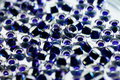 Dark blue toho beads with inside color Stock Image