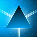 Dark blue triangle on an abstract cosmic background fantastic vector illustration Stock Photography