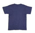 Dark blue tshirt from the back close up Royalty Free Stock Photo