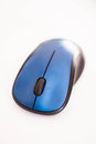 Dark blue wireless mouse isolated on white background Royalty Free Stock Photos