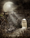 Dark bridge Stock Image