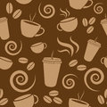 Dark Brown Coffee Pattern Royalty Free Stock Images