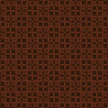Dark brown colors flower pattern design korean traditional series Royalty Free Stock Photos