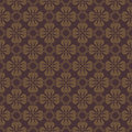 Dark brown colors flower pattern design korean traditional series Royalty Free Stock Photo