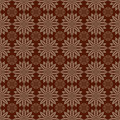 Dark brown colors round grid pattern korean traditional design series Royalty Free Stock Photography