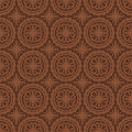Dark brown colors round grid pattern korean traditional design series Royalty Free Stock Photos