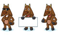 Dark Brown Goat Mascot pose Royalty Free Stock Photo