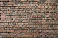 Dark brown red brick wall Stock Photography