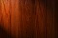 Dark brown wood background with light