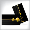 Dark business card dsign with gold shapes Royalty Free Stock Photo