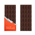 Dark candy chocolate bars in vintage bar wrappers.