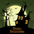 Dark castle abstract on special halloween background Royalty Free Stock Photos