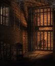 Dark cells in a dungeon