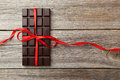 Dark chocolate bar Royalty Free Stock Photo