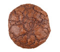 Dark chocolate brownie cookie Stock Photo