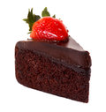 Dark chocolate strawberry cake Royalty Free Stock Photo