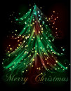 Dark Christmas tree light effect bac Stock Photos