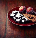 Dark Cinnamon Stars Stock Images