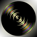 Dark circle background Royalty Free Stock Photo