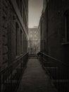 Dark city alley Royalty Free Stock Photo
