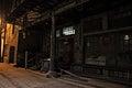 Dark City Alley at Night Royalty Free Stock Photo
