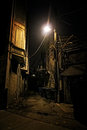 Dark City Alley Royalty Free Stock Photo