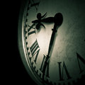 Dark clock detail Royalty Free Stock Photo