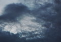 Dark cloud on sky in evening Royalty Free Stock Photo