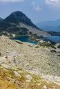 Dark Clouds over Gergiyski lakes,  Pirin Mountain Royalty Free Stock Photo
