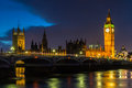 Dark Clouds over the Houses of Parliament Stock Photos