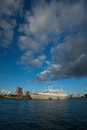 Dark clouds over SS Rotterdam Stock Image