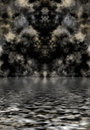 Dark clouds reflected in water Stock Images