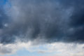 Dark clouds with stormy sky scattered Royalty Free Stock Photography
