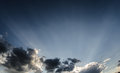 Dark cloudscape and blue sky Royalty Free Stock Photo