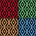 Dark colored geometric background. Seamless pattern