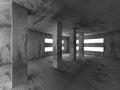 Dark concrete empty room interior background Royalty Free Stock Photo