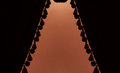 Dark curtains or drapes in theater Royalty Free Stock Photo