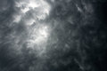 Dark dramatic sky with storm clouds Royalty Free Stock Photo