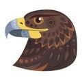 Dark eagle head Logo. Vector decorative Emblem.