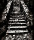 Dark and eerie staircase