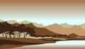 Dark en mysticus forest landscape background Royalty-vrije Stock Fotografie
